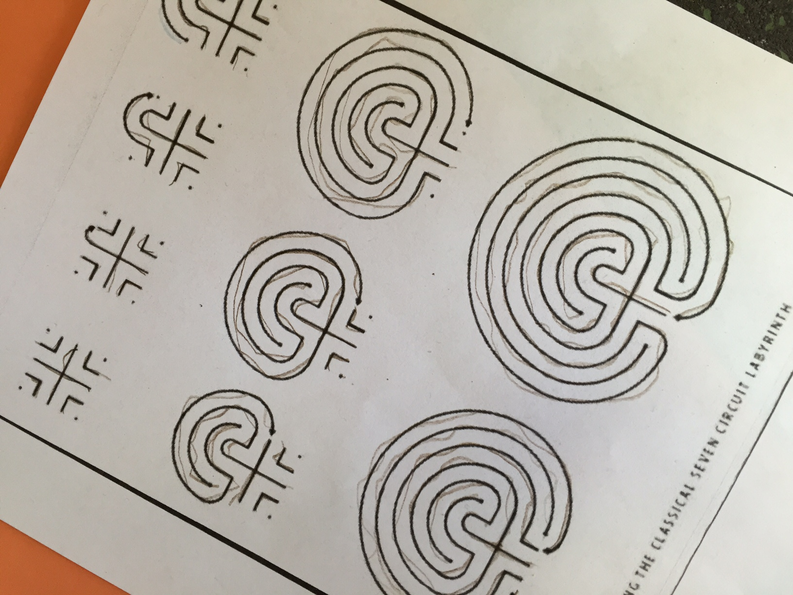 How To Make A Circular Classical 7 Circuit Labyrinth And Seven New Up
